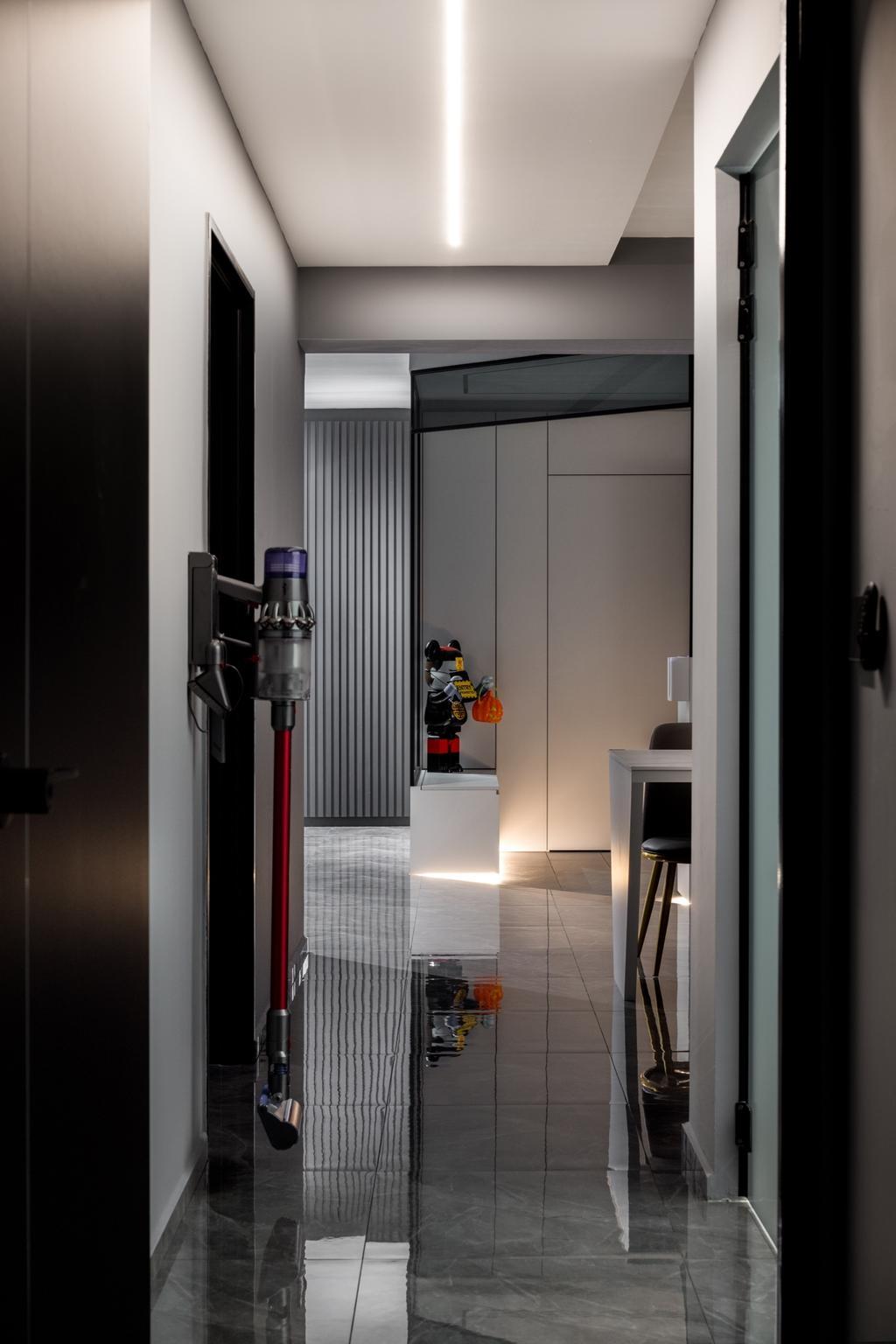 Contemporary, HDB, Living Room, Tampines North Drive 1, Interior Designer, Jialux Interior, Corridor