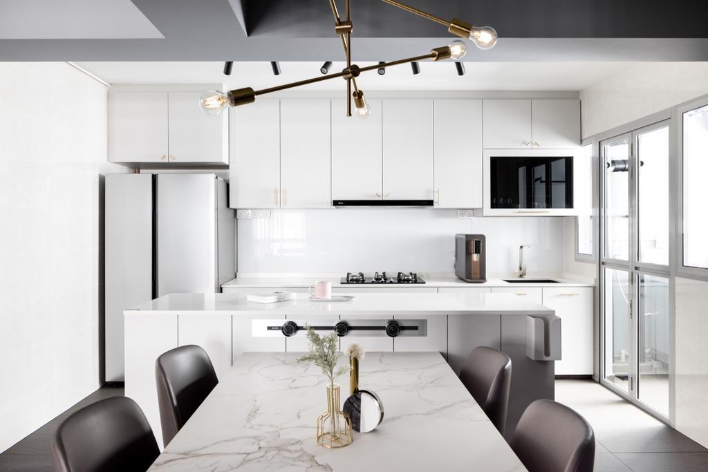 Contemporary, HDB, Kitchen, Tampines North Drive 1, Interior Designer, Jialux Interior