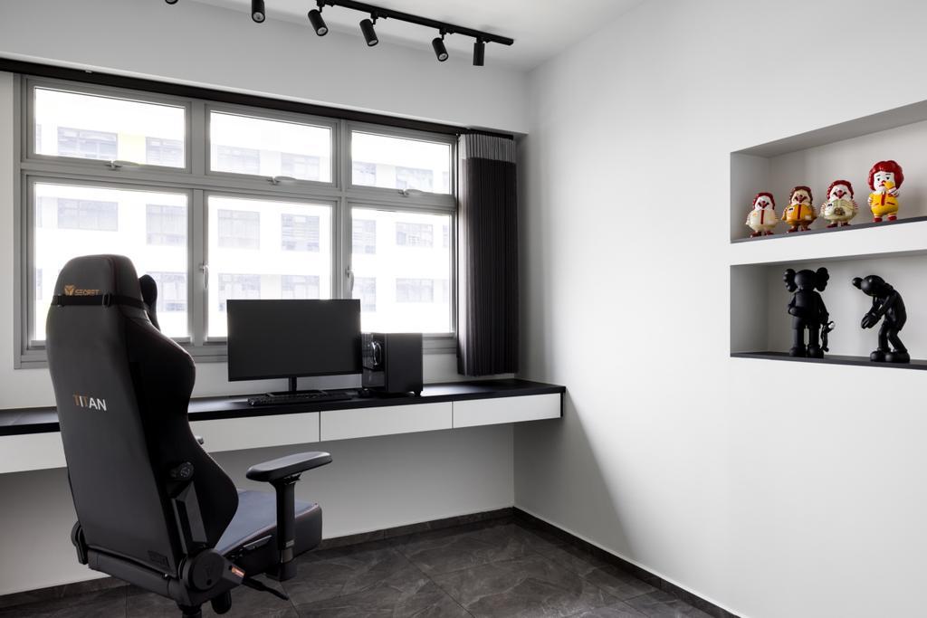 Contemporary, HDB, Study, Tampines North Drive 1, Interior Designer, Jialux Interior
