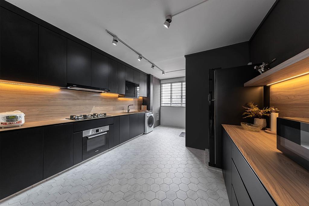 Modern, HDB, Kitchen, Serangoon North Avenue 4, Interior Designer, ARK-hitecture, Contemporary