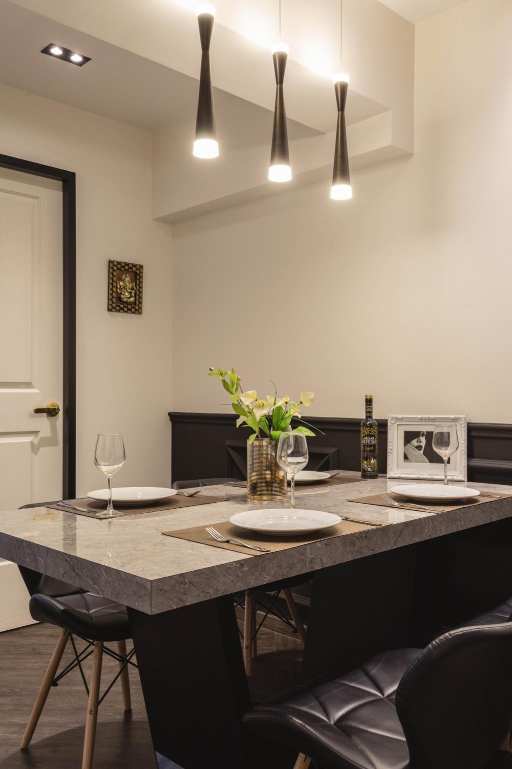 Contemporary, HDB, Dining Room, Tampines Street 11, Interior Designer, M3 Studio