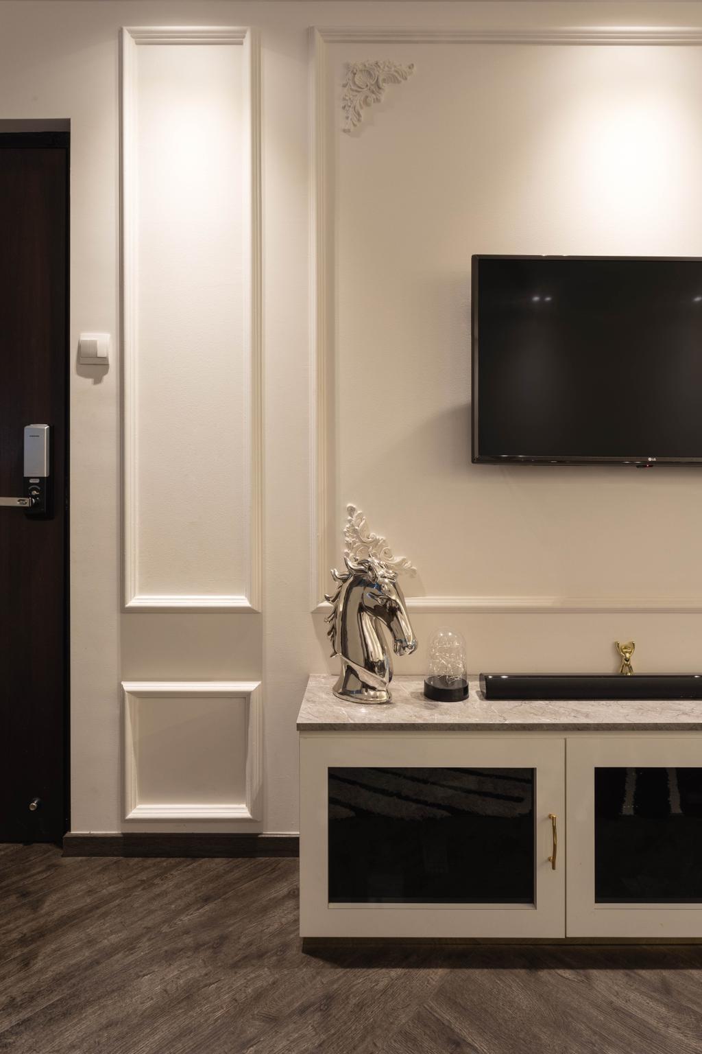 Contemporary, HDB, Living Room, Tampines Street 11, Interior Designer, M3 Studio