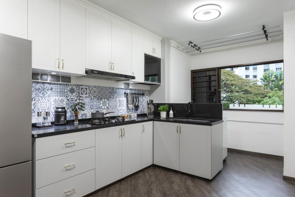 Contemporary, HDB, Kitchen, Tampines Street 11, Interior Designer, M3 Studio