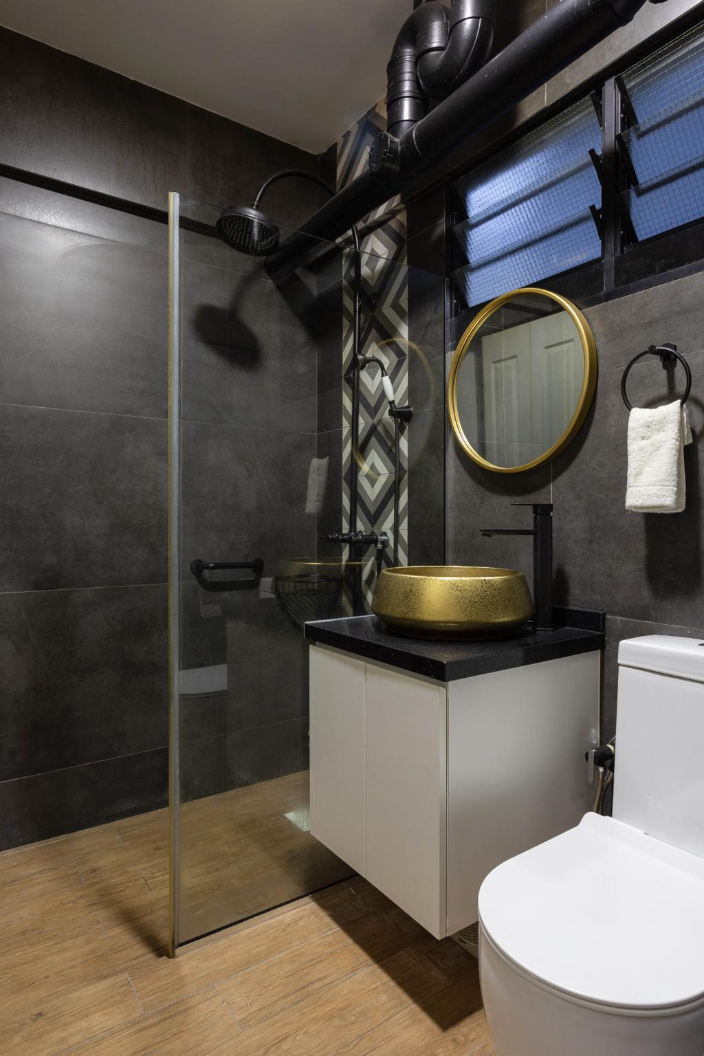 Contemporary, HDB, Bathroom, Tampines Street 11, Interior Designer, M3 Studio