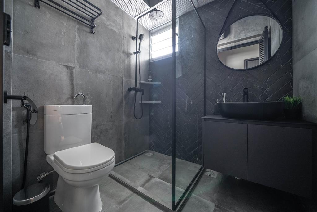 Contemporary, HDB, Bathroom, Canberra Street, Interior Designer, Key Concept