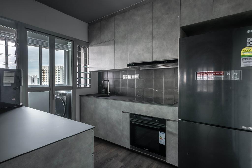 Contemporary, HDB, Kitchen, Canberra Street, Interior Designer, Key Concept