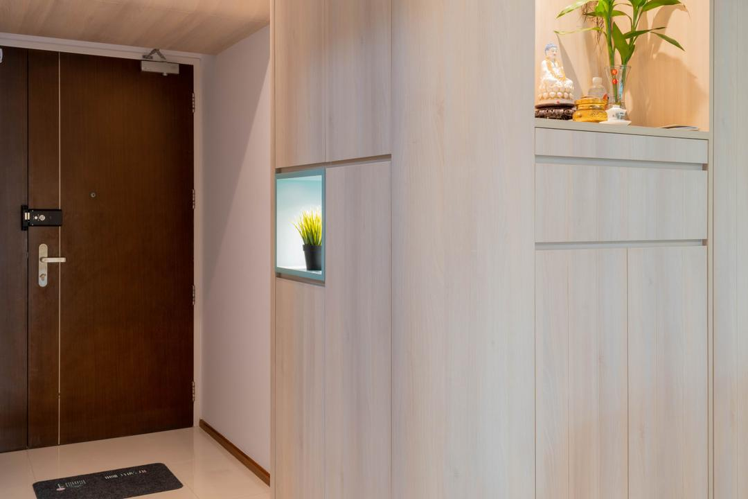 Cantonment Road, Urban Home Design 二本設計家, Minimalistic, Living Room, HDB, Altar