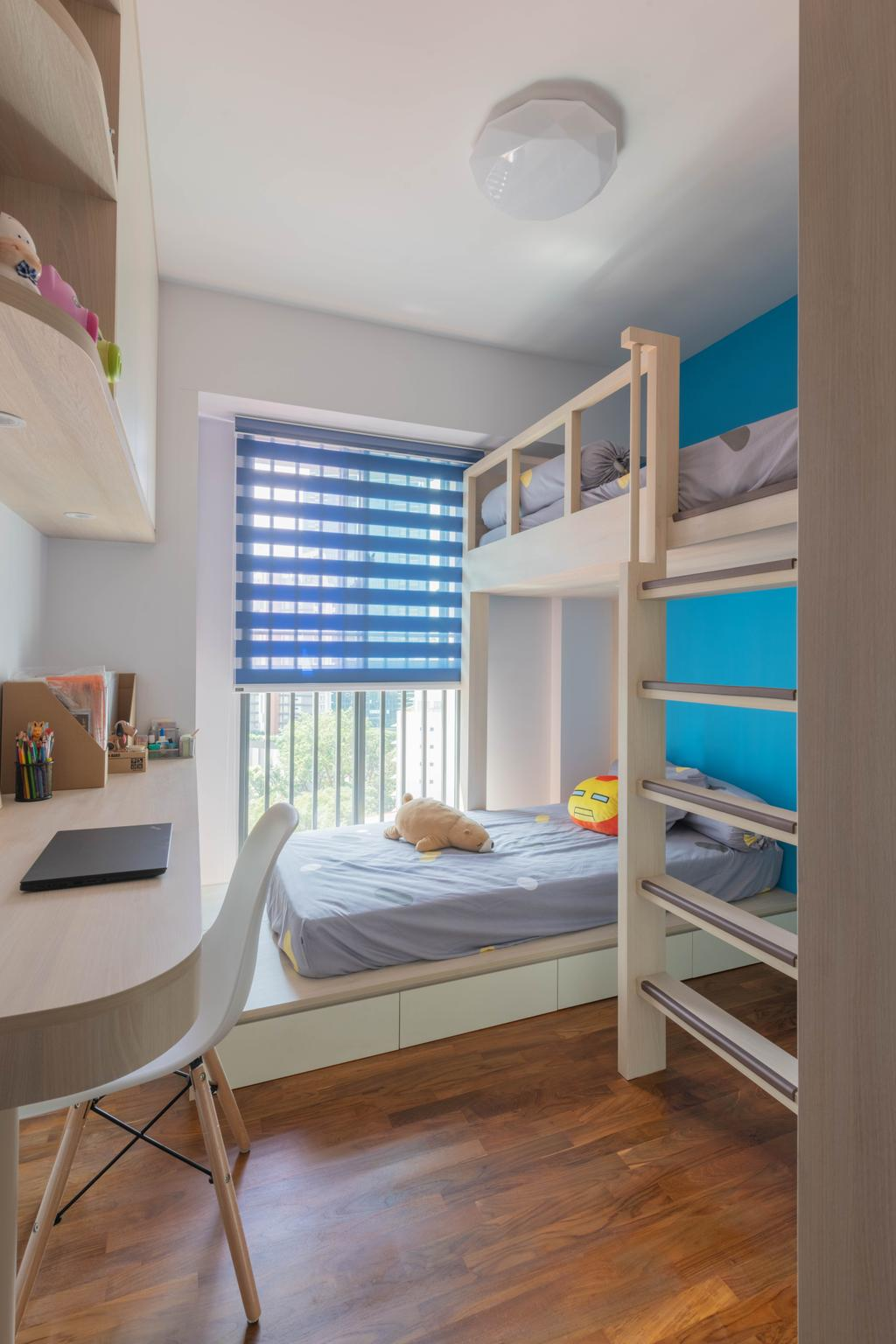 Minimalistic, HDB, Bedroom, Cantonment Road, Interior Designer, Urban Home Design 二本設計家, Kids Room