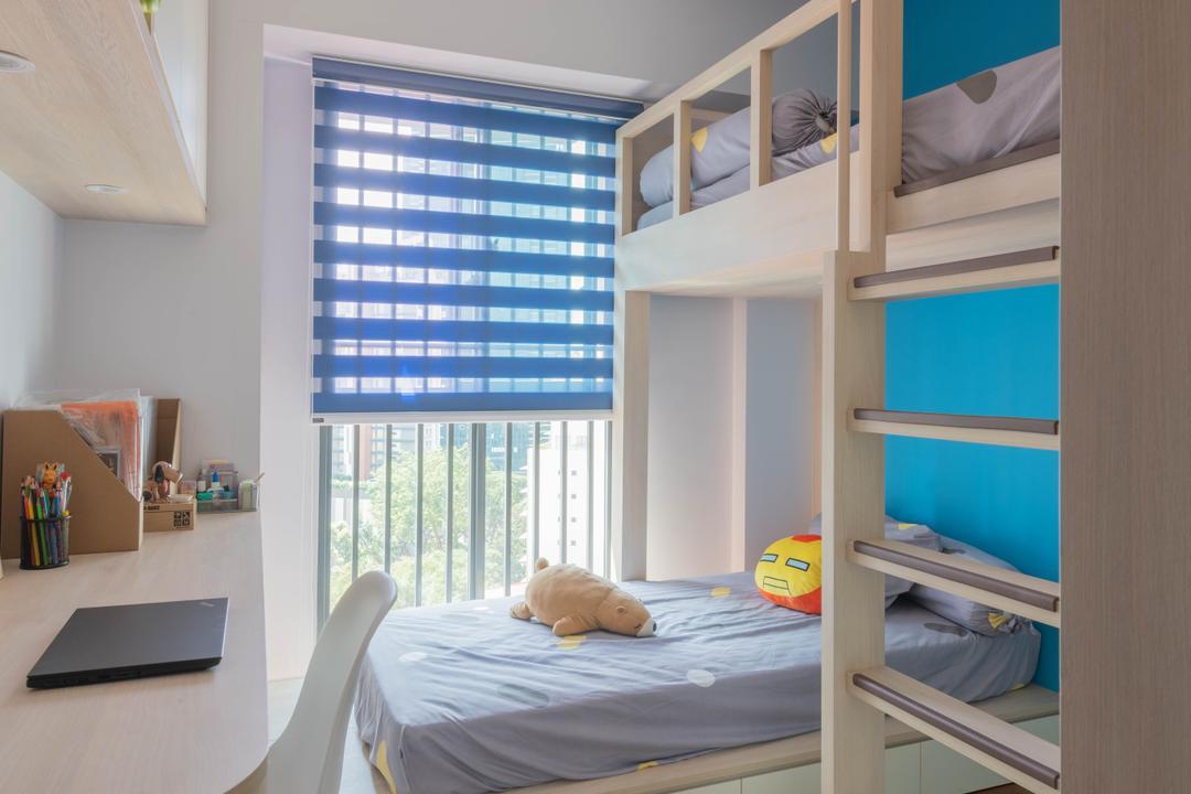 Cantonment Road, Urban Home Design 二本設計家, Minimalistic, Bedroom, HDB, Kids Room, Kids Room