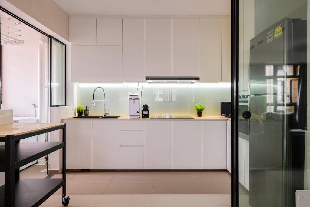 Minimalistic, HDB, Kitchen, Sengkang West Road, Interior Designer, Project Guru