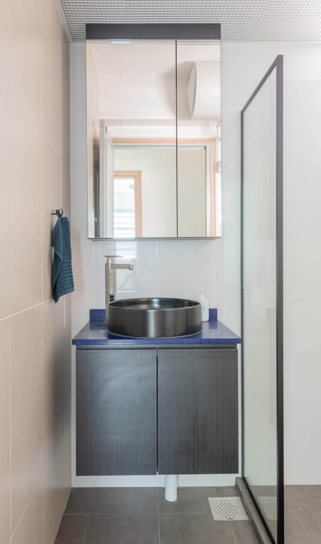 Eclectic, HDB, Bathroom, Canberra Street, Interior Designer, Project Guru