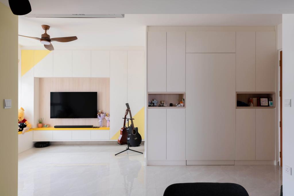 Eclectic, HDB, Canberra Street, Interior Designer, Project Guru