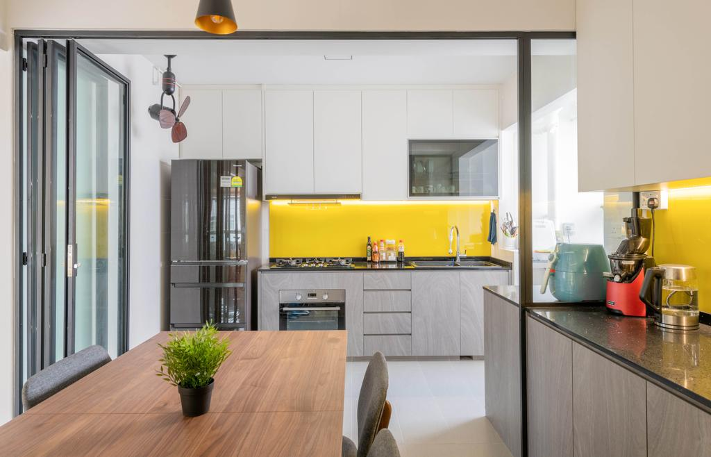 Eclectic, HDB, Kitchen, Canberra Street, Interior Designer, Project Guru