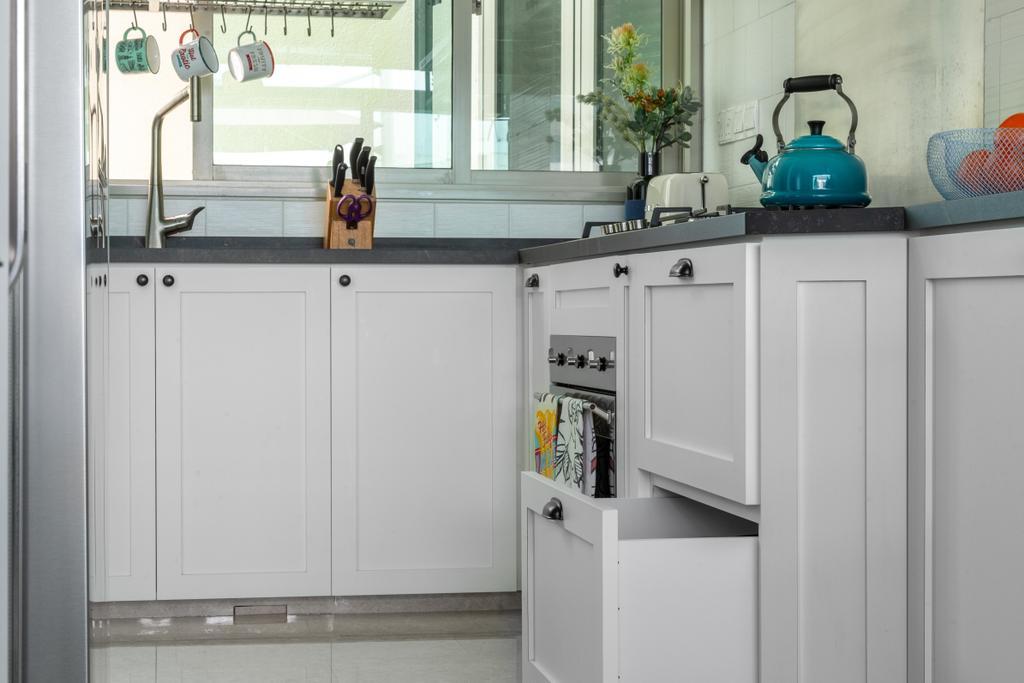 Modern, Condo, Kitchen, Glentrees, Interior Designer, Livspace