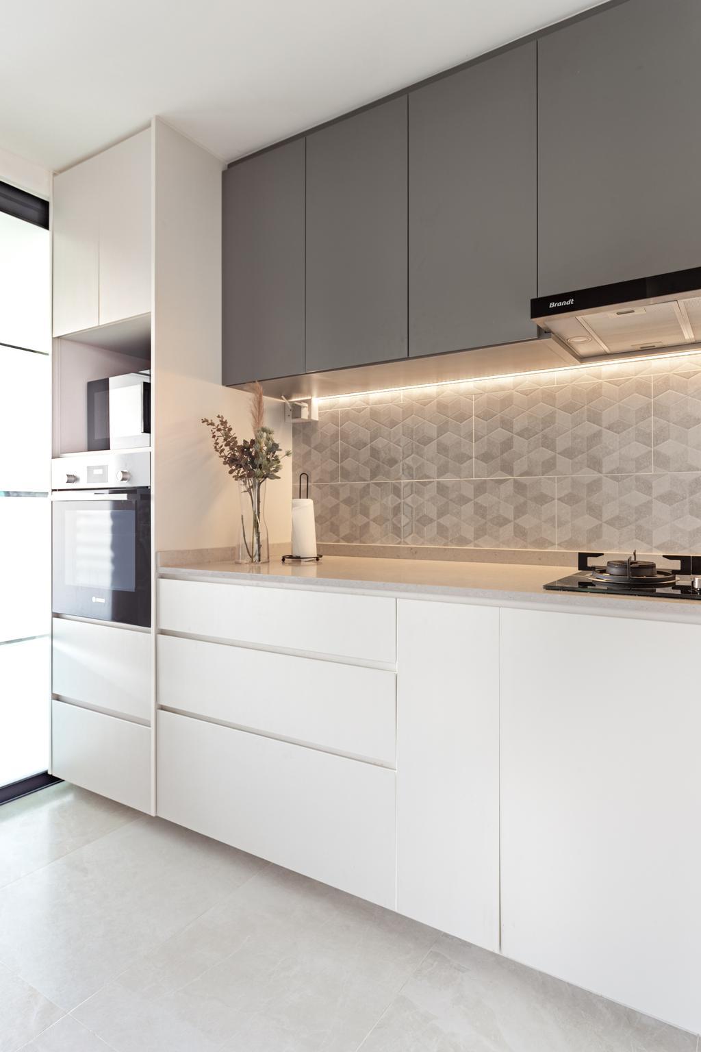Scandinavian, Condo, Kitchen, Dakota Residences, Interior Designer, Livspace