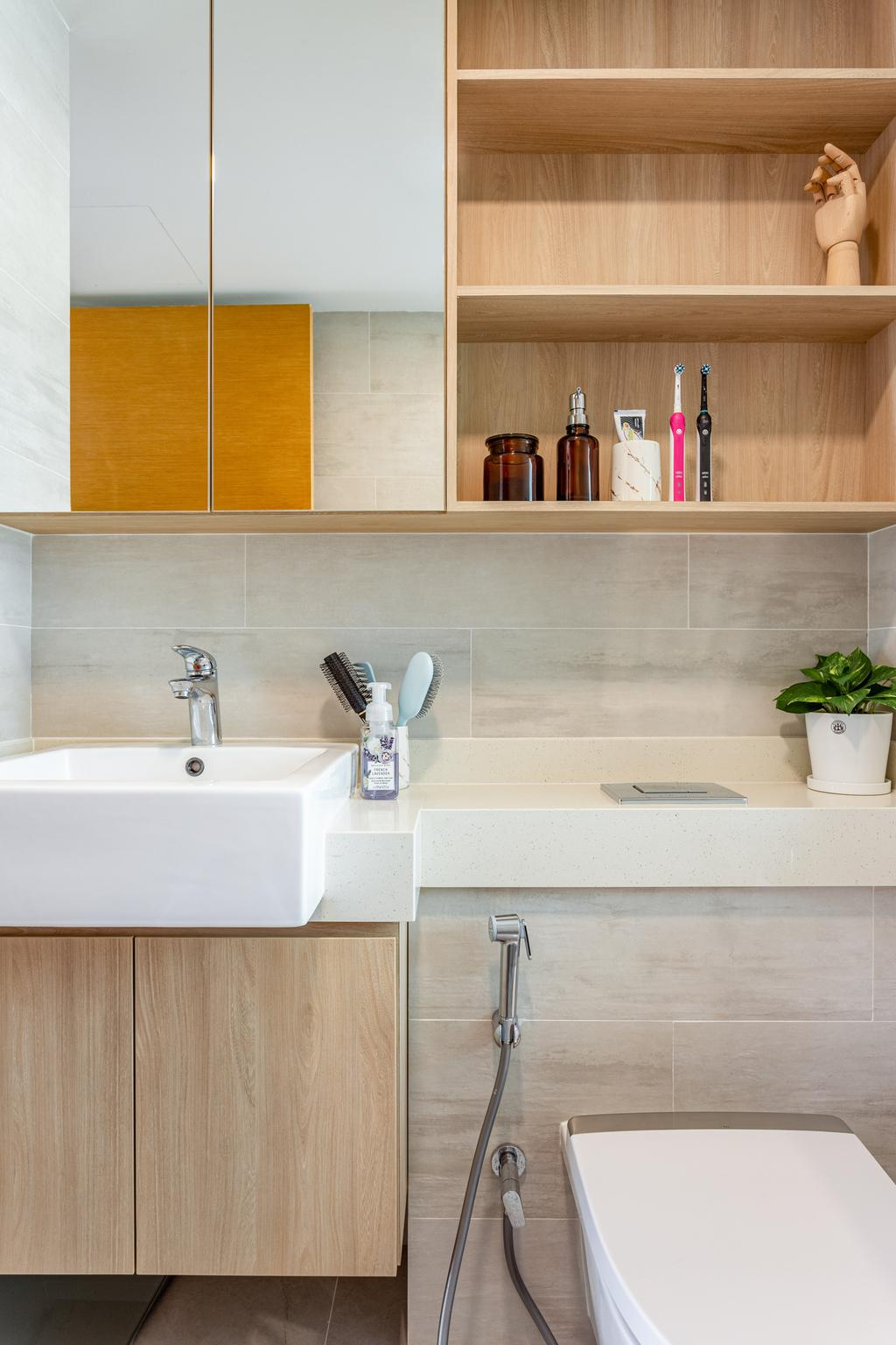 Scandinavian, Condo, Bathroom, Dakota Residences, Interior Designer, Livspace