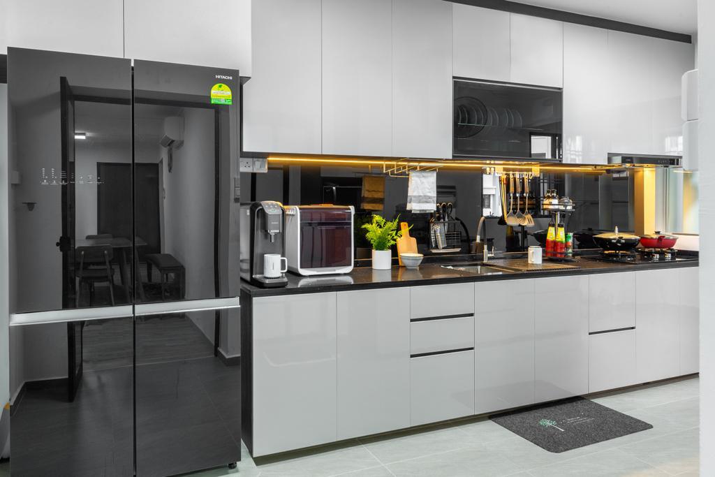 Contemporary, HDB, Kitchen, Hougang Street 91, Interior Designer, Livspace, Scandinavian