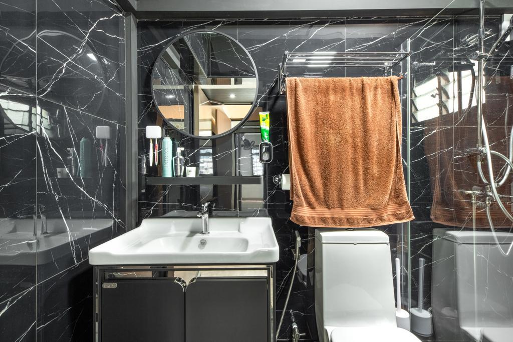 Contemporary, HDB, Bathroom, Hougang Street 91, Interior Designer, Livspace, Scandinavian