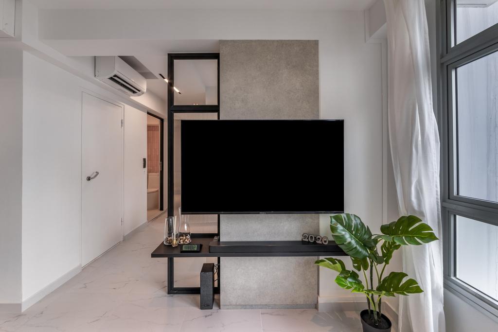 Modern, HDB, Living Room, Tampines Avenue 1, Interior Designer, Livspace, Scandinavian