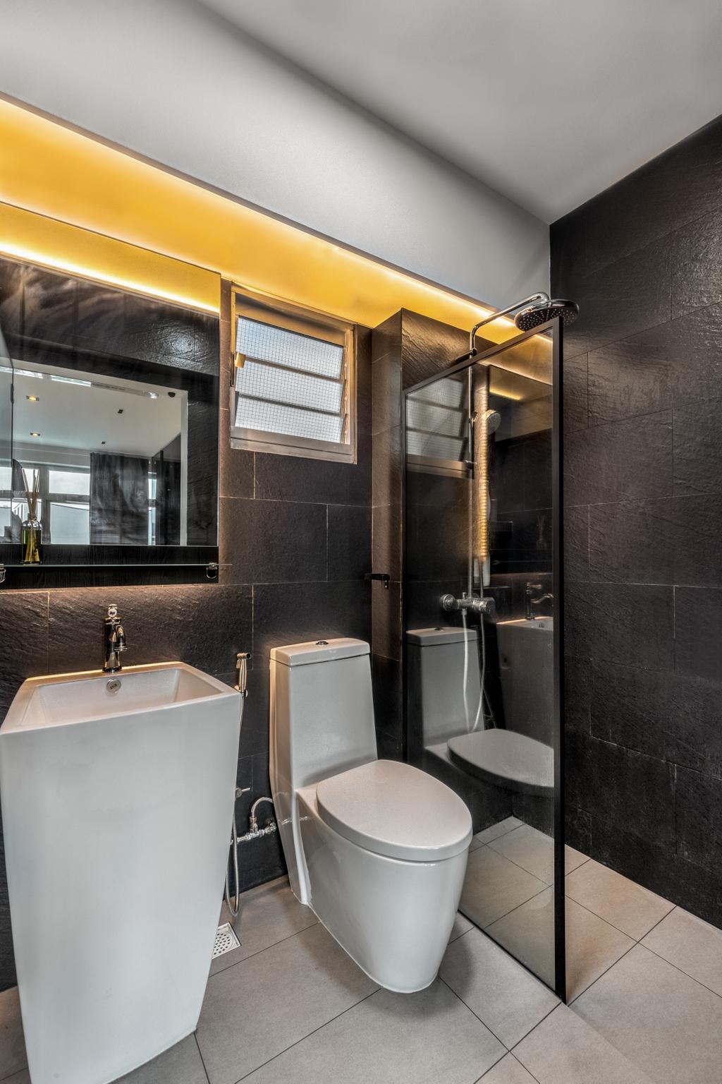 Modern, HDB, Bathroom, Tampines Avenue 1, Interior Designer, Livspace, Scandinavian