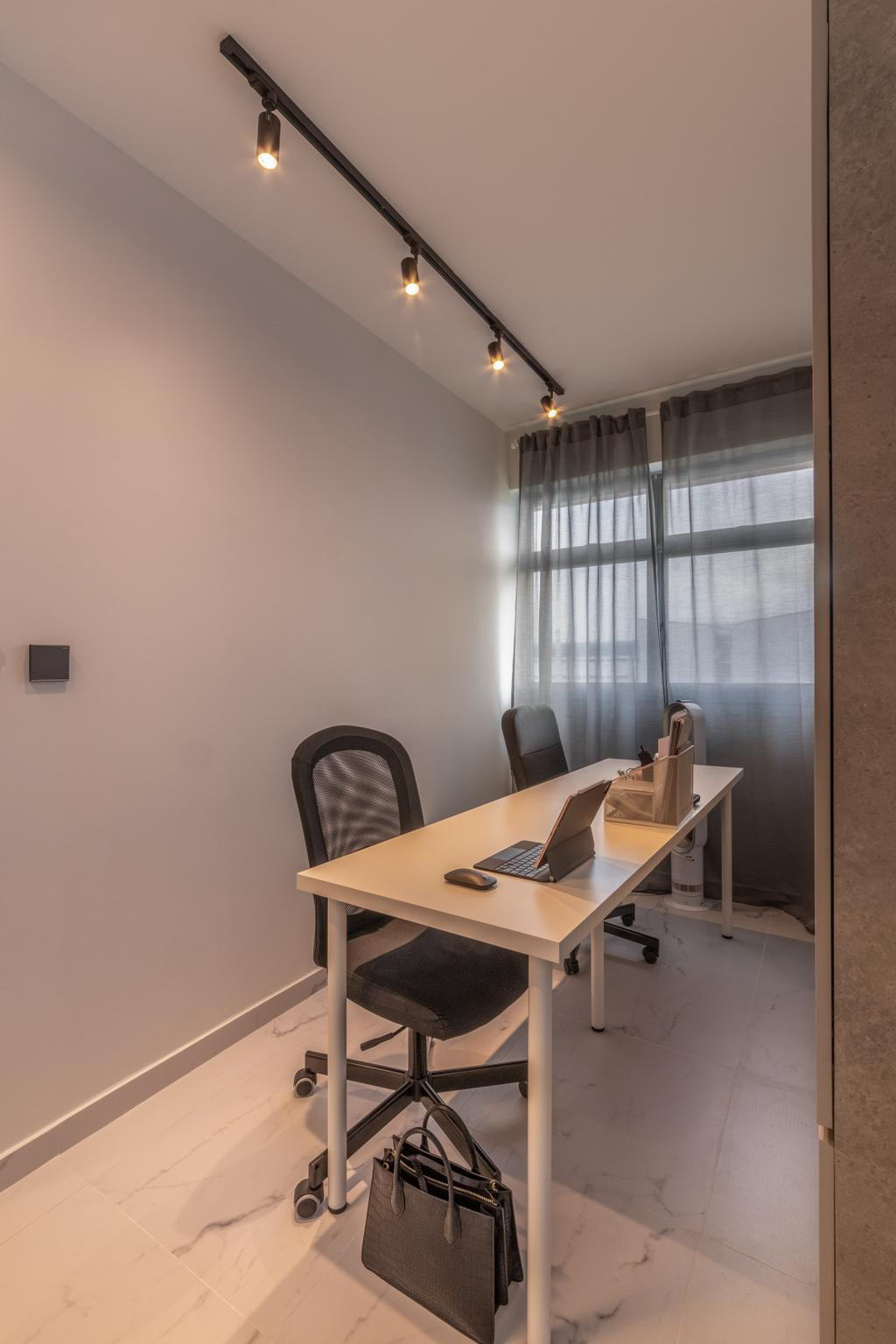 Modern, HDB, Study, Tampines Avenue 1, Interior Designer, Livspace, Scandinavian