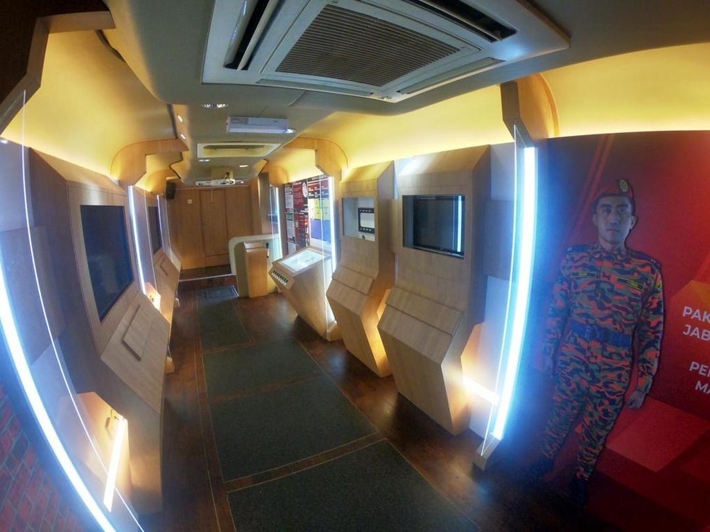 Hang Tuah Jabatan Bomba, Roadshow Bus, Commercial, Interior Designer, Fusion Intense Sdn. Bhd., Industrial