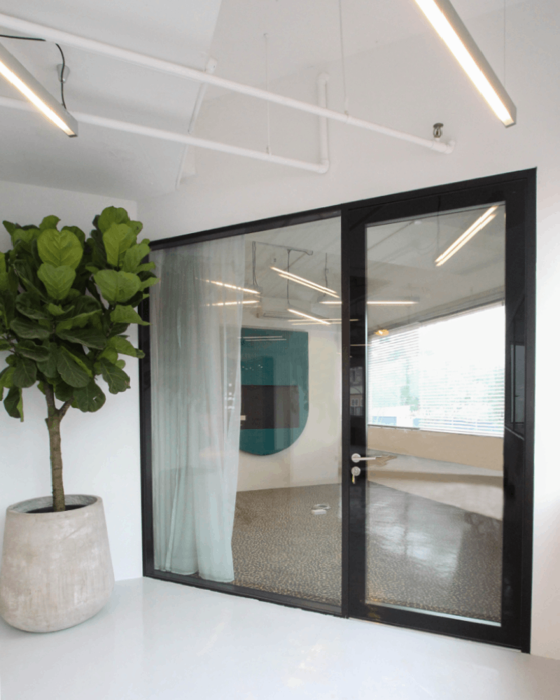 glass partition glass systems home office