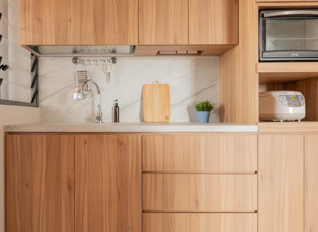 Scandinavian, HDB, Kitchen, Clementi Avenue 3, Interior Designer, Urban Home Design 二本設計家