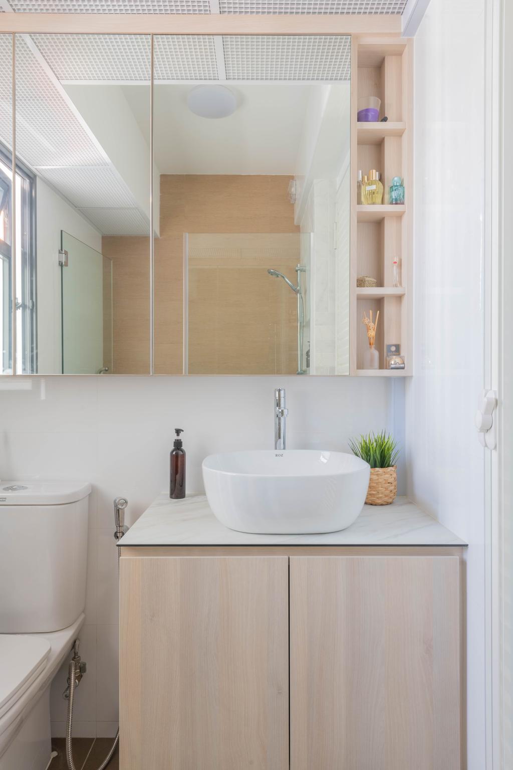 Scandinavian, HDB, Bathroom, Clementi Avenue 3, Interior Designer, Urban Home Design 二本設計家
