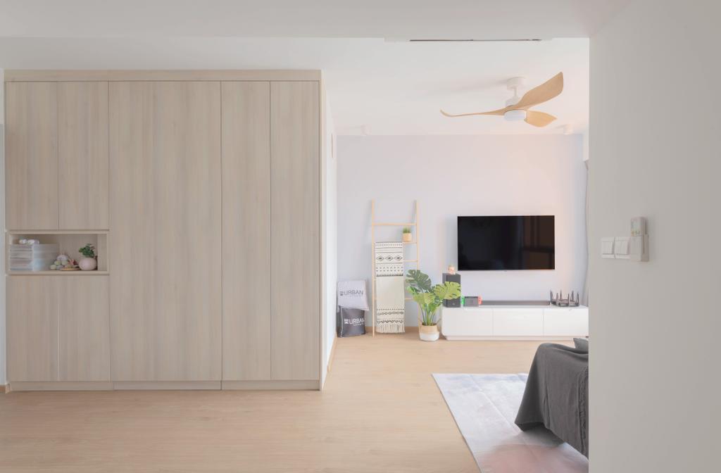 Scandinavian, HDB, Living Room, Clementi Avenue 3, Interior Designer, Urban Home Design 二本設計家