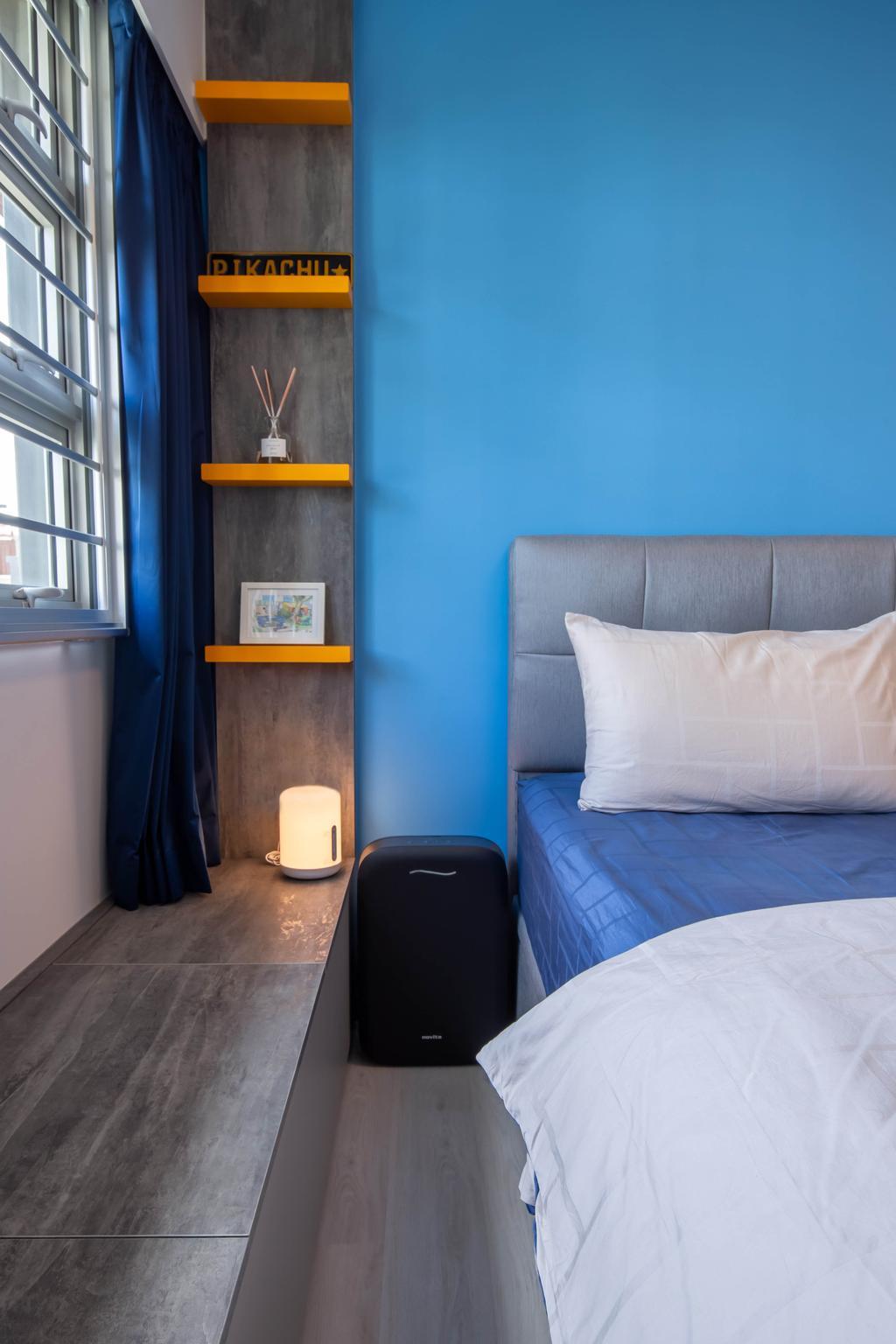 Contemporary, HDB, Bedroom, Bedok North Road, Interior Designer, ELPIS Interior Design