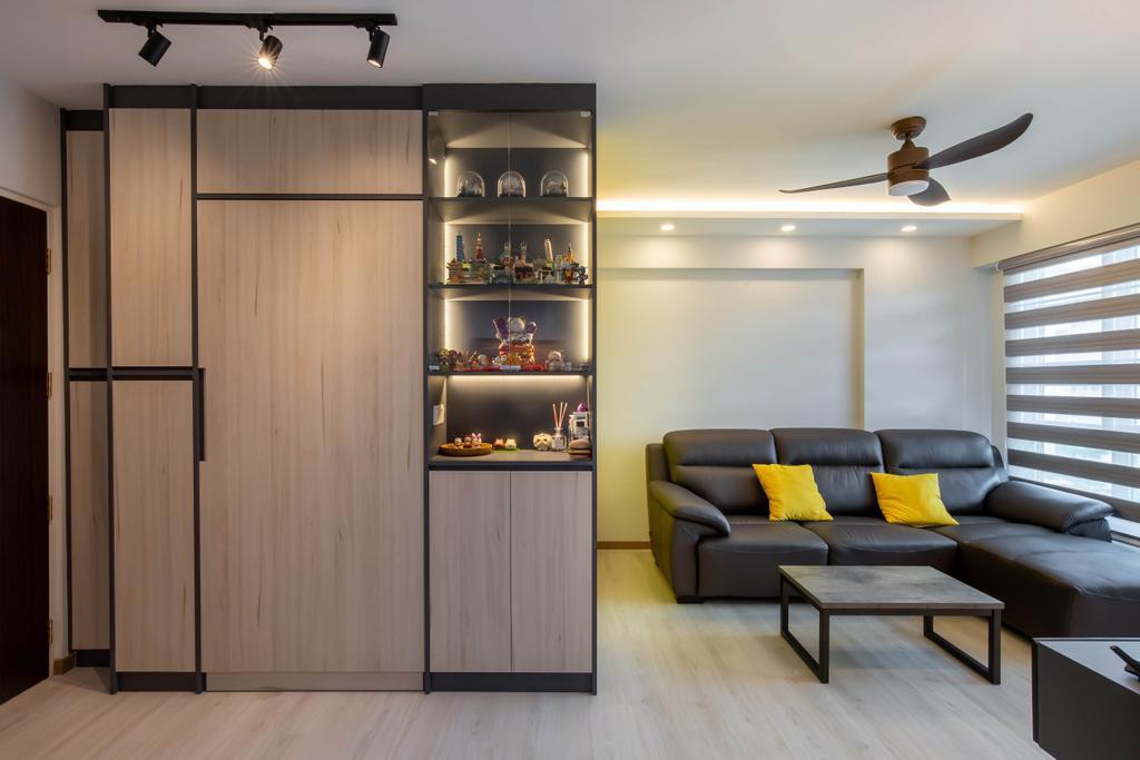 Contemporary, HDB, Living Room, Bedok North Road, Interior Designer, ELPIS Interior Design