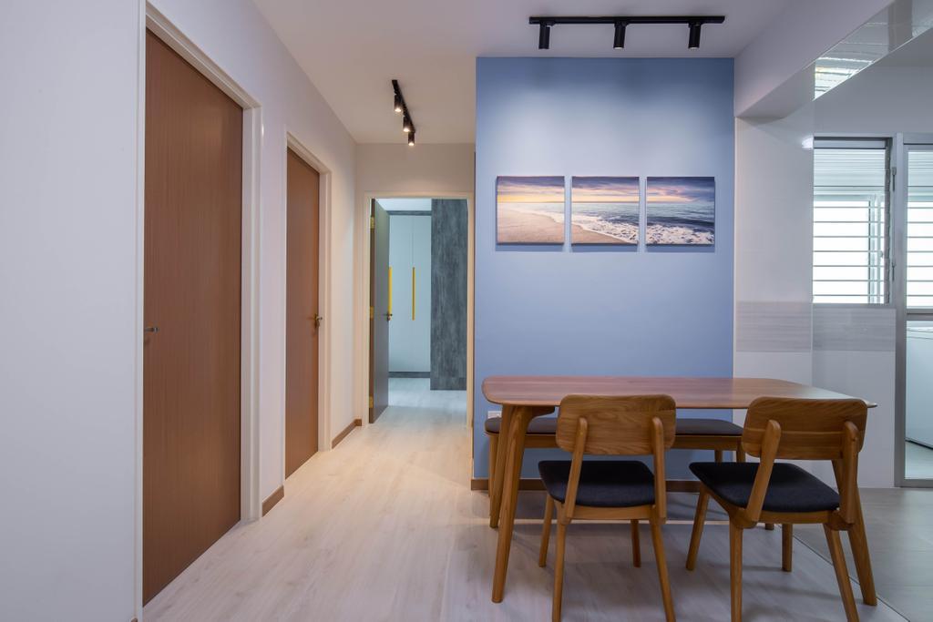 Contemporary, HDB, Dining Room, Bedok North Road, Interior Designer, ELPIS Interior Design