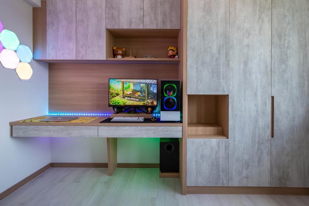 Contemporary, HDB, Study, Bedok North Road, Interior Designer, ELPIS Interior Design