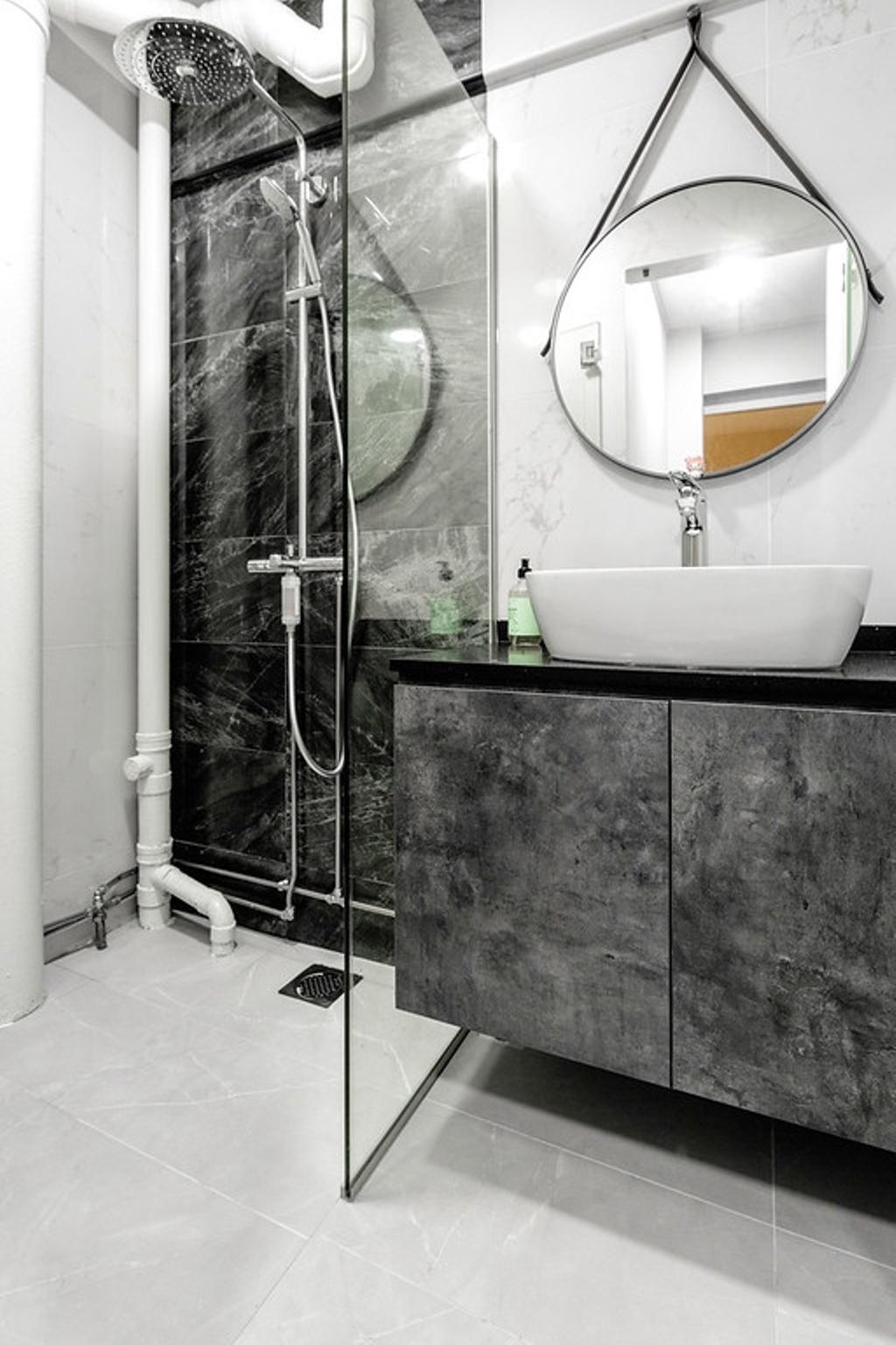 Modern, HDB, Bathroom, Hougang Avenue 8, Interior Designer, The Wooden Platform, Contemporary