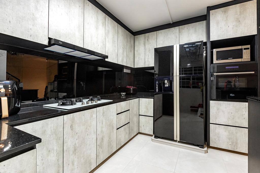 Modern, HDB, Kitchen, Hougang Avenue 8, Interior Designer, The Wooden Platform, Contemporary