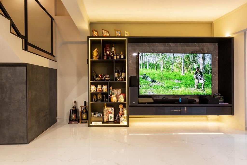 Modern, HDB, Living Room, Hougang Avenue 8, Interior Designer, The Wooden Platform, Contemporary