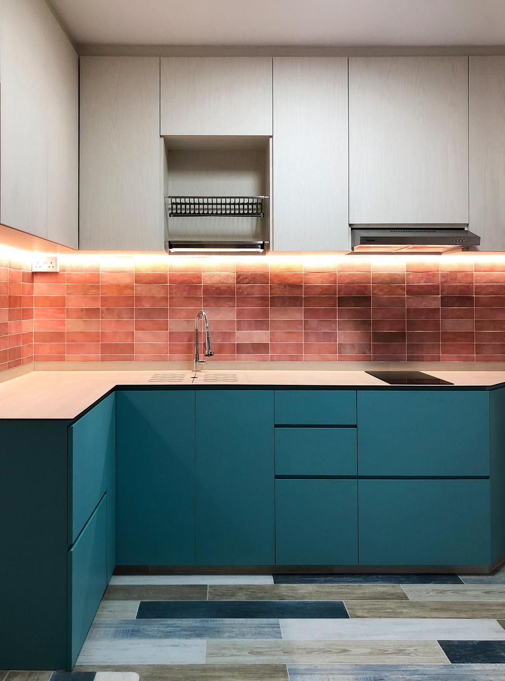 Contemporary, HDB, Kitchen, Woodlands Drive 16, Interior Designer, Sky Creation Asia