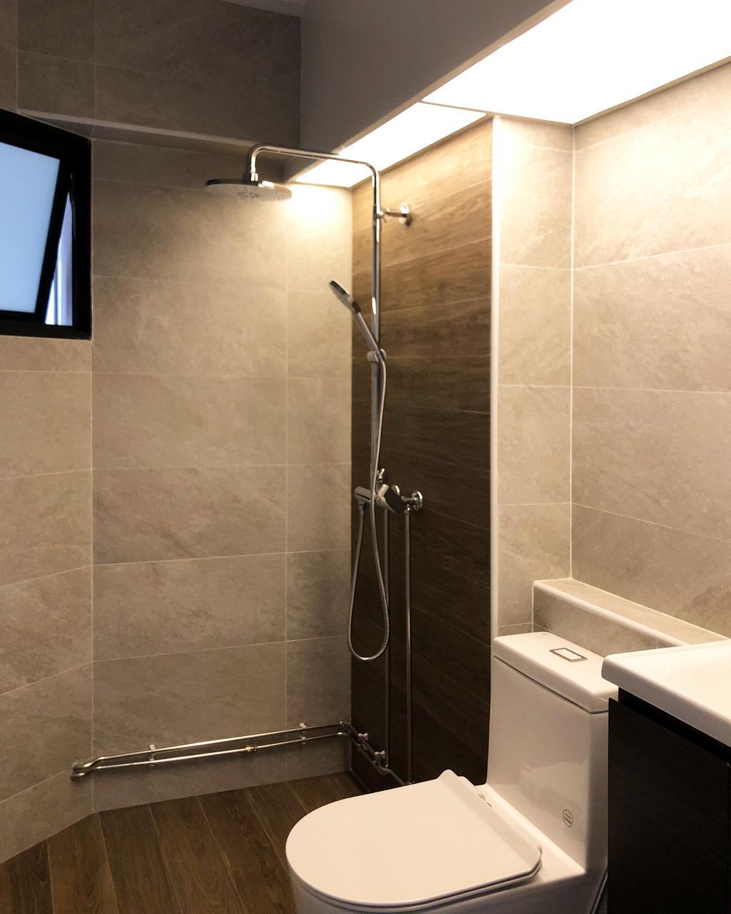 Contemporary, HDB, Bathroom, Woodlands Drive 16, Interior Designer, Sky Creation Asia
