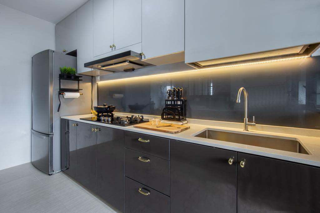 Modern, HDB, Kitchen, Clementi Avenue 3, Interior Designer, Yang's Inspiration Design, Scandinavian
