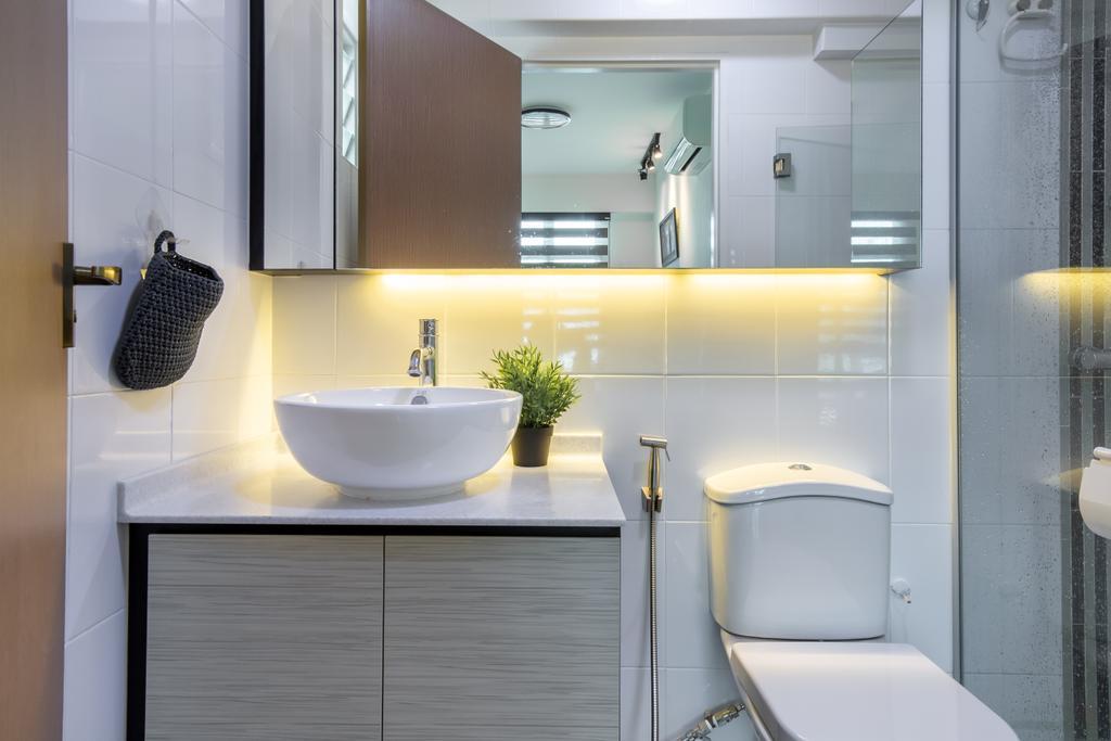 Contemporary, HDB, Bathroom, Punggol Drive, Interior Designer, Yang's Inspiration Design, Scandinavian