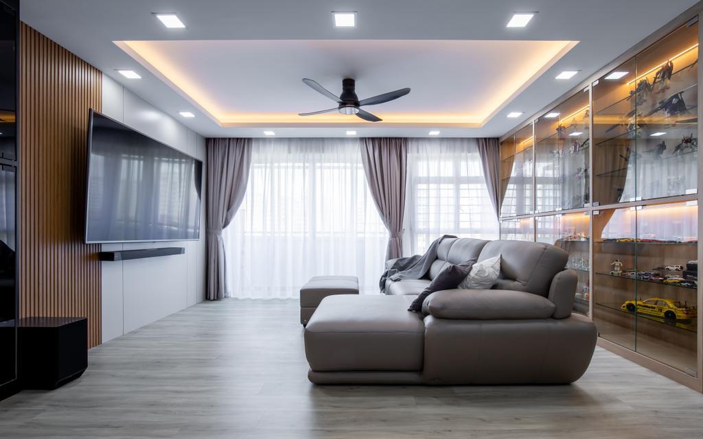 Contemporary, HDB, Living Room, Punggol Drive, Interior Designer, Yang's Inspiration Design, Scandinavian