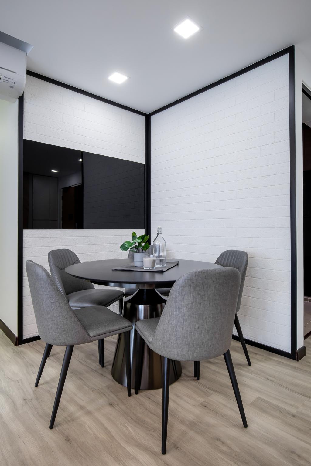 Contemporary, HDB, Dining Room, Punggol Drive, Interior Designer, Yang's Inspiration Design, Scandinavian