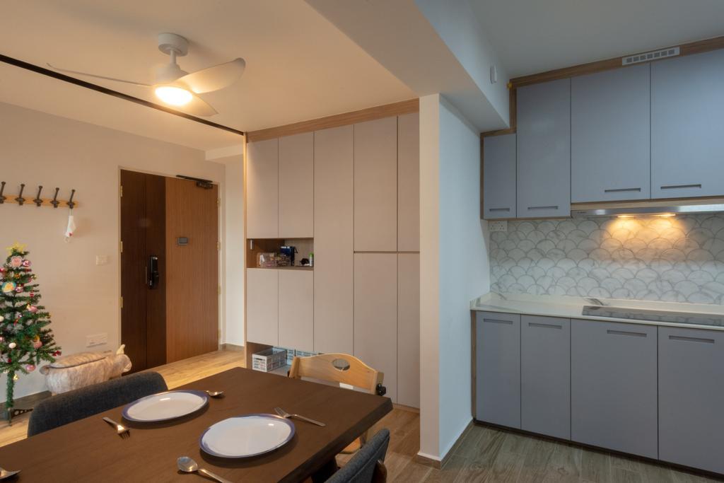 Modern, HDB, Dining Room, Northshore Drive, Interior Designer, Brown Studio Interior Design, Scandinavian