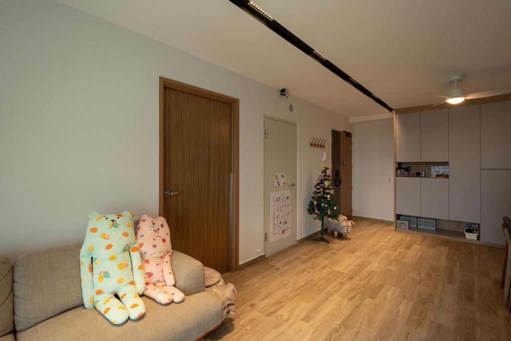 Modern, HDB, Living Room, Northshore Drive, Interior Designer, Brown Studio Interior Design, Scandinavian