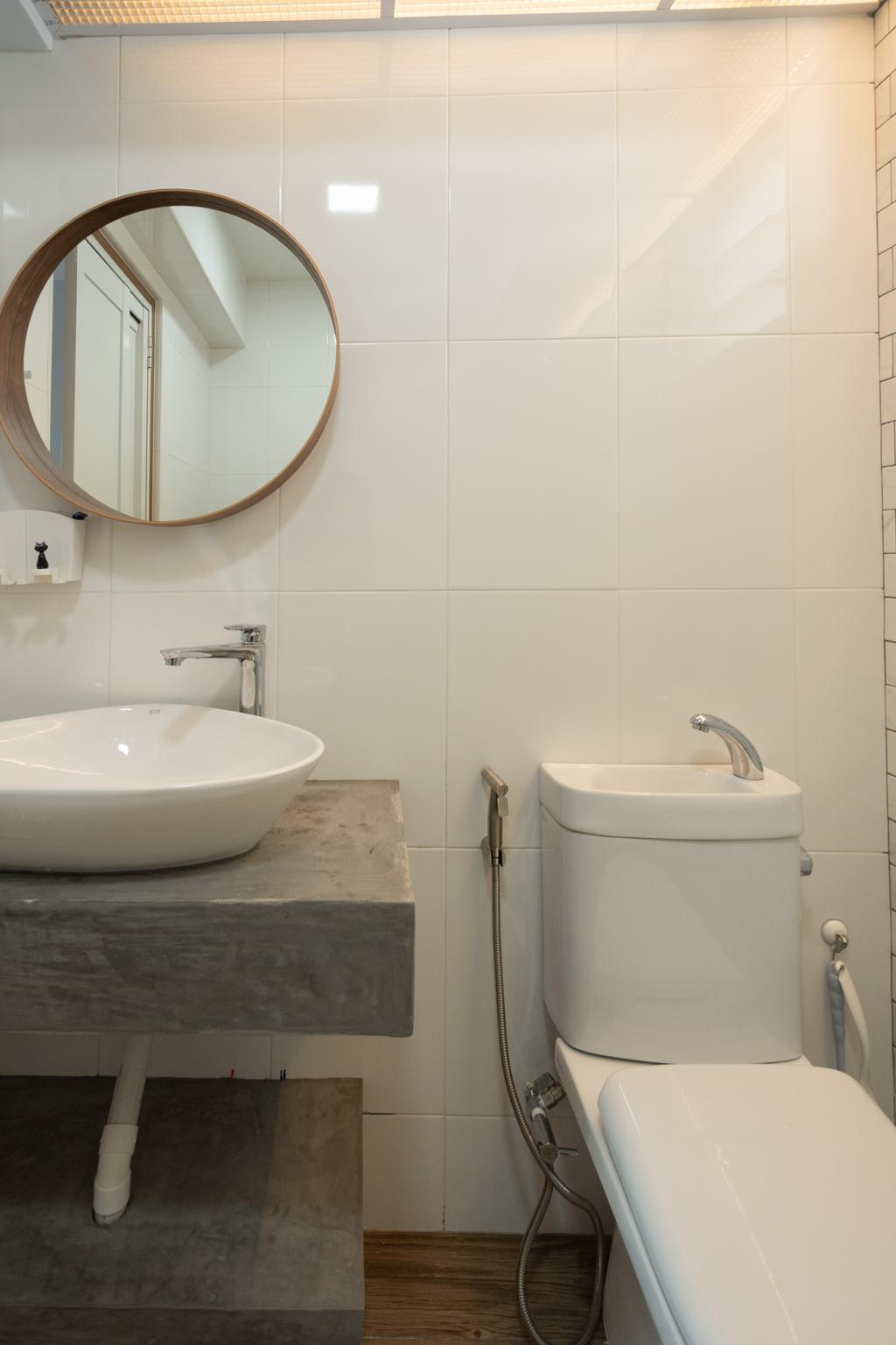 Modern, HDB, Bathroom, Northshore Drive, Interior Designer, Brown Studio Interior Design, Scandinavian