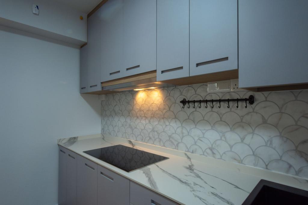 Modern, HDB, Kitchen, Northshore Drive, Interior Designer, Brown Studio Interior Design, Scandinavian