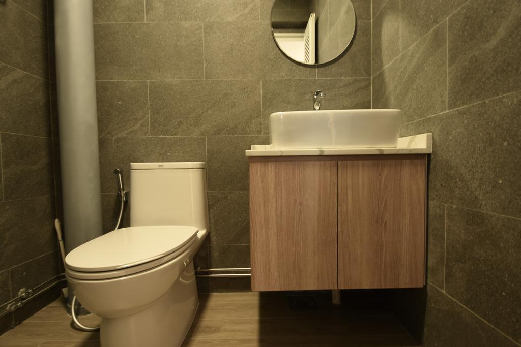 Contemporary, HDB, Bathroom, Woodlands Street 41, Interior Designer, Brown Studio Interior Design