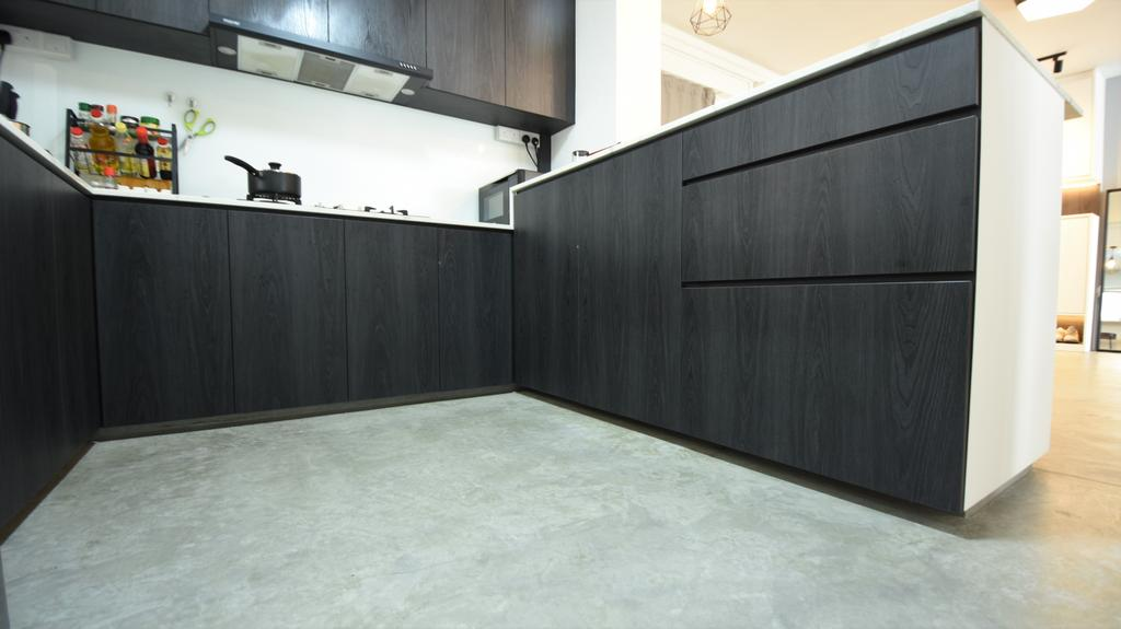 Contemporary, HDB, Kitchen, Woodlands Street 41, Interior Designer, Brown Studio Interior Design