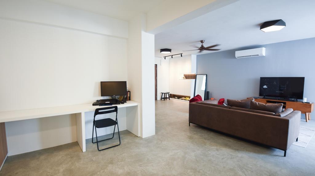 Contemporary, HDB, Living Room, Woodlands Street 41, Interior Designer, Brown Studio Interior Design